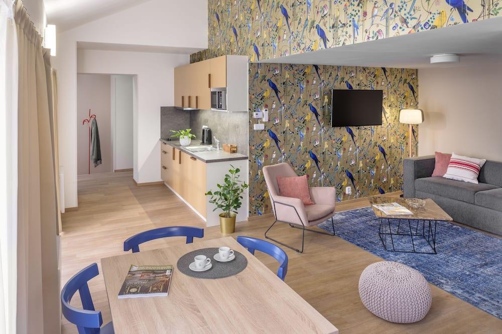 Apartmán, 2 ložnice, nekuřácký - Obývací pokoj