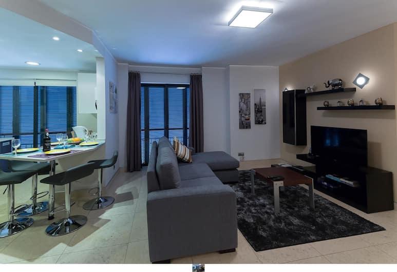 豐沙爾論壇奇景公寓飯店, 芳夏爾, 公寓, 2 間臥室, 非吸煙房, 客廳