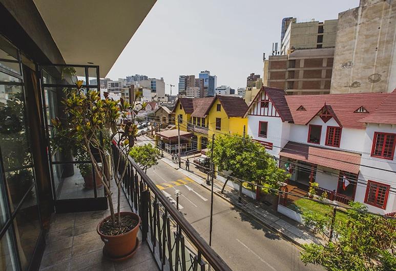 Hostel Kokopelli Nightlife - Miraflores, Ліма, Двомісний номер, спільна ванна, Балкон