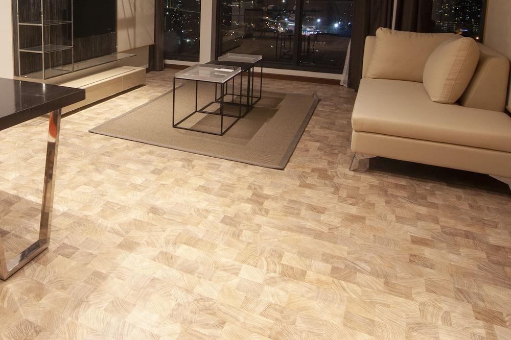 Premium-Apartment, 2Schlafzimmer, barrierefrei, Nichtraucher - Wohnbereich