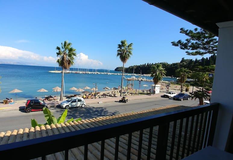 Onar Corfu Aparts & Studios, Kérkyra, Basic kahetuba, 1 magamistoaga, rõduga, vaade rannale, Rõdu