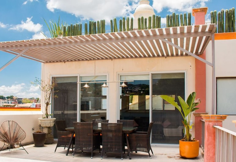Casa de la O - Adults Only , San Miguel de Allende, Īpaši liels studijas tipa luksusa numurs, viena guļamistaba, terase, Terase/iekšējais pagalms