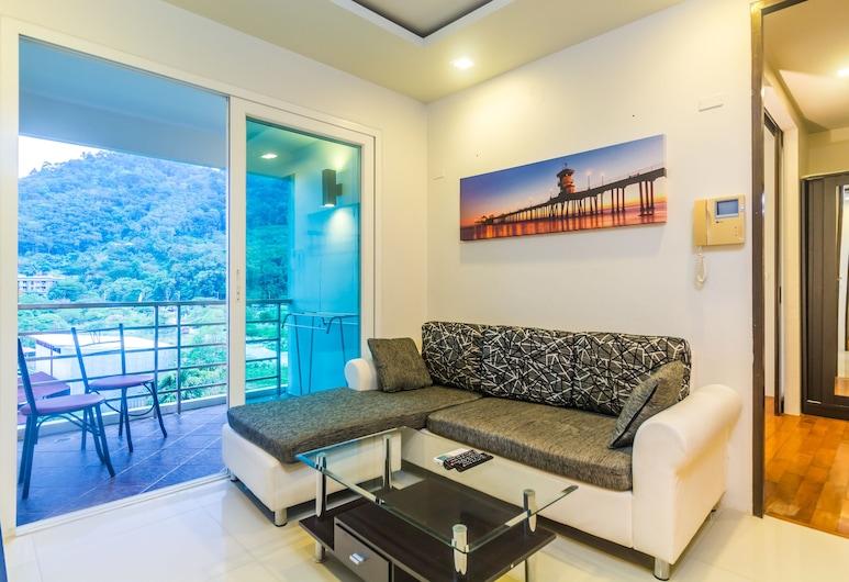 洛夫提天堂湖濱公寓酒店, 巴東, 2 Bedrooms Apartment, 客廳