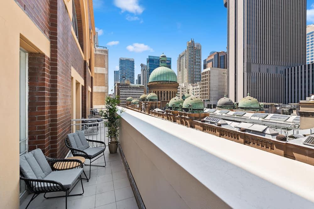 Izba typu Premium, 1 veľké dvojlôžko, výhľad na mesto - Výhľad z balkóna