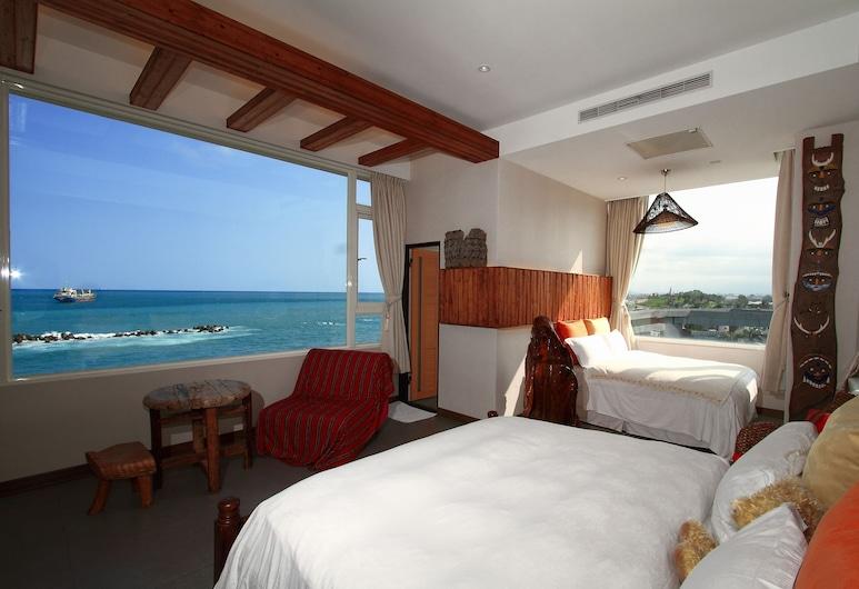 花蓮海傳海景民宿, 花蓮市, 海景豪華雙床房, 2 張標準雙人床, 非吸煙房, 客房
