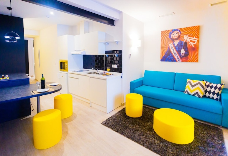 La Casa del Pop , Séville, Appartement Familial, 2 chambres, non-fumeurs (Pizzicato Five), Coin séjour