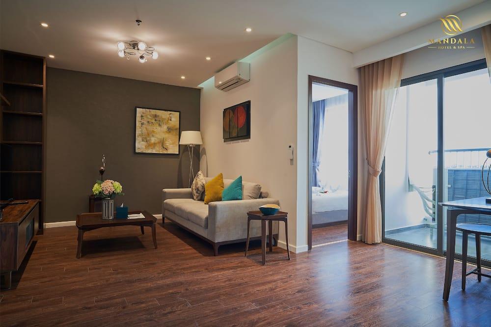 Suite, 2 Quartos (Apartment) - Sala de Estar