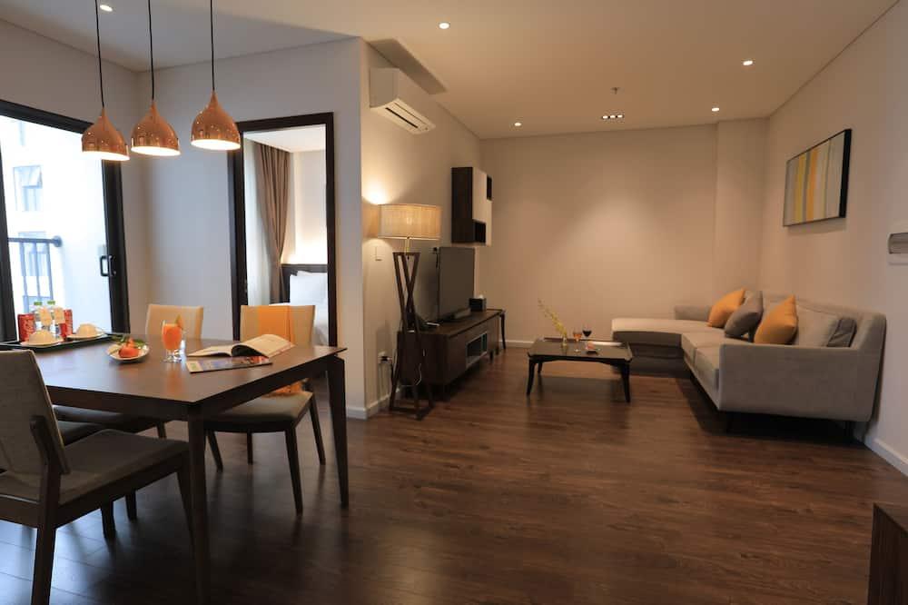 Apartamento Executivo, 2 Quartos - Área de Estar