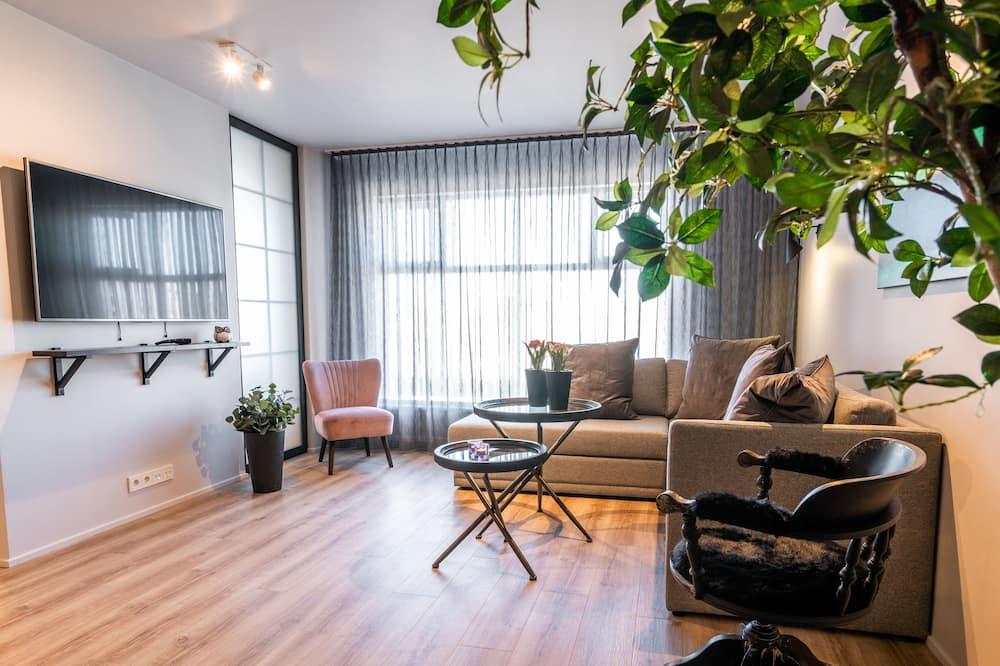 Huoneisto, 2 makuuhuonetta (Aurora Suite) - Oleskelualue