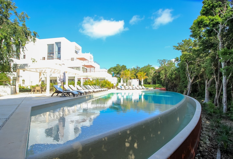 Apartment w Golf Course view by OlaHola, Akumal, Alberca infinita