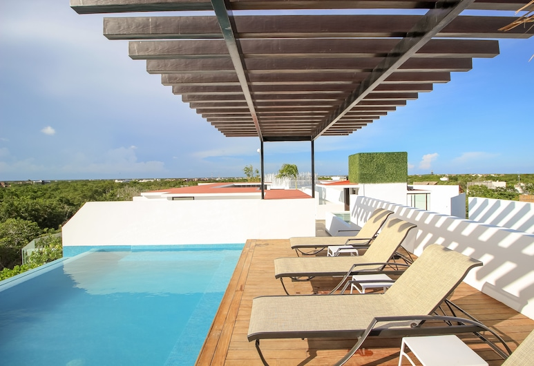 Laylie Tulum - Tropical 3 story condo with Rooftop, Tulum, Terasa na opaľovanie