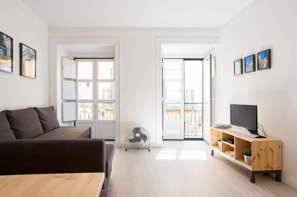 Lägenhet - 1 queensize-säng med bäddsoffa - Vardagsrum
