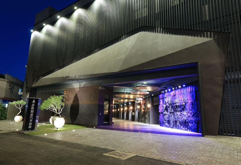 Feifan Boutique Motel, Yilan, Viešbučio fasadas vakare / naktį