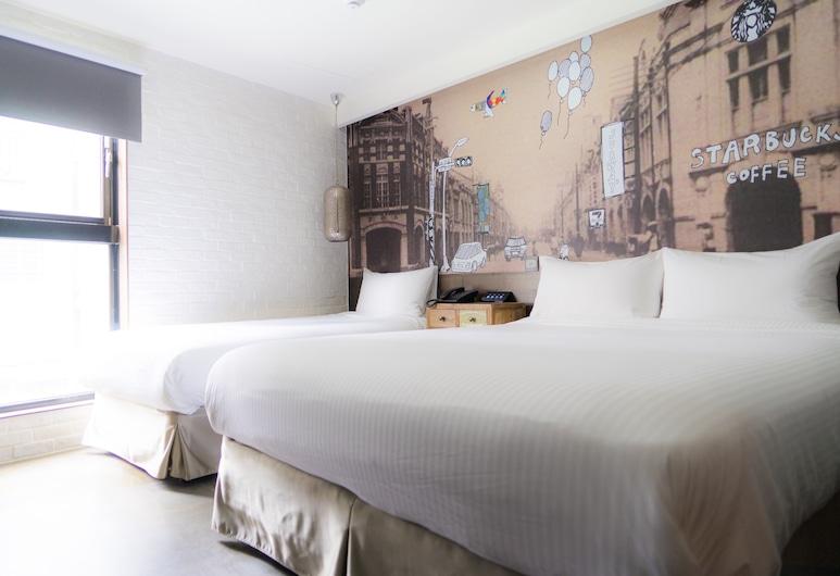 V Hotel, Taipei, Deluxe driepersoonskamer, Meerdere bedden, niet-roken, Kamer