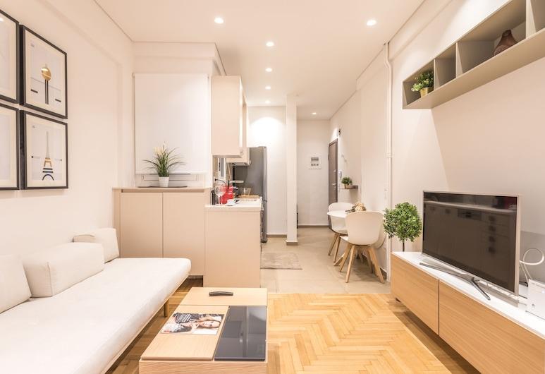 Ήσυχο, πολυτελές διαμέρισμα 4ου ορόφου με 1 υπνοδωμάτιο, Αθήνα, Διαμέρισμα, 1 Υπνοδωμάτιο, Περιοχή καθιστικού