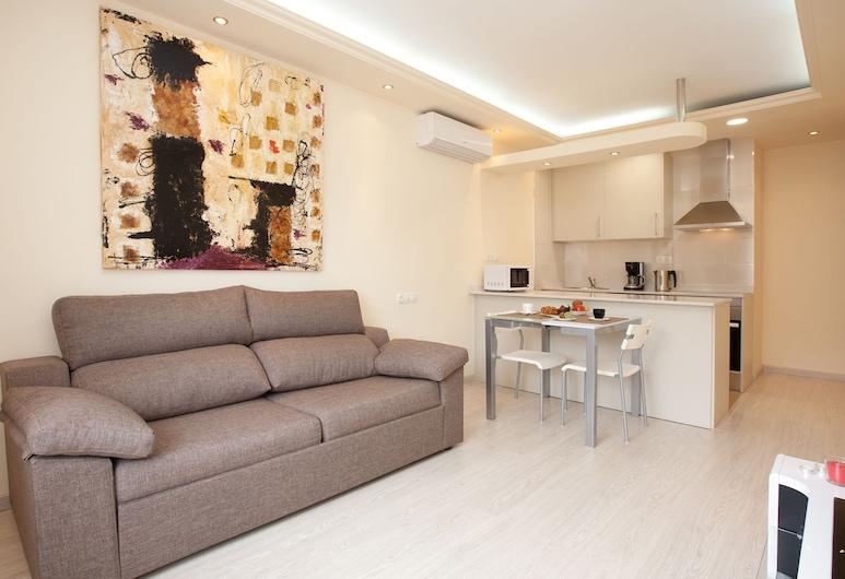 Barnapartments Rambla Cataluña, ברצלונה, דירה, חדר שינה אחד, סלון