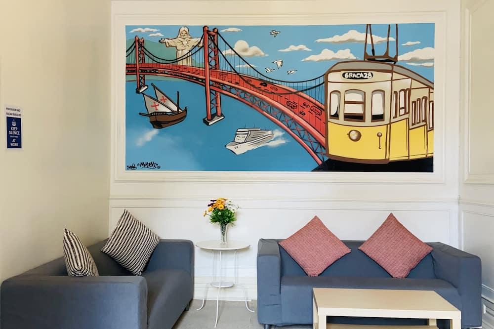 Double Room, Terrace, Shared Bathroom - Living Area