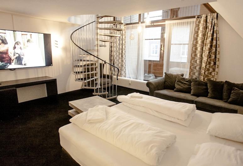 HUXX City, נורמברג, פנטהאוז קומפורט, חדר אורחים