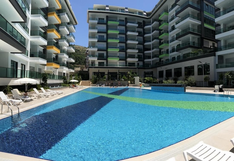 Konak Seaside Resort 2 Bedroom, Alanya, Kolam Renang Luar Ruangan