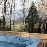 Maison, 2 chambres, cheminée, vue montagne (Pet Friendly) - Bain à remous extérieur