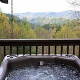 Коттедж «Делюкс», 2 спальни, камин, вид на горы (Pet, Horse and Wheelchair Friendly) - Спа-ванна на свежем воздухе