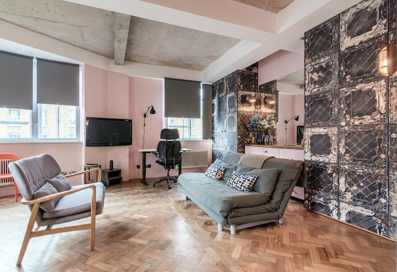 Gorgeous 1 bed in Clerkenwell for up to 4 Guests!, Londýn, Obývačka