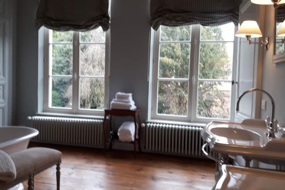 Habitación Deluxe, 1 cama King size, para no fumadores, vista al jardín - Baño