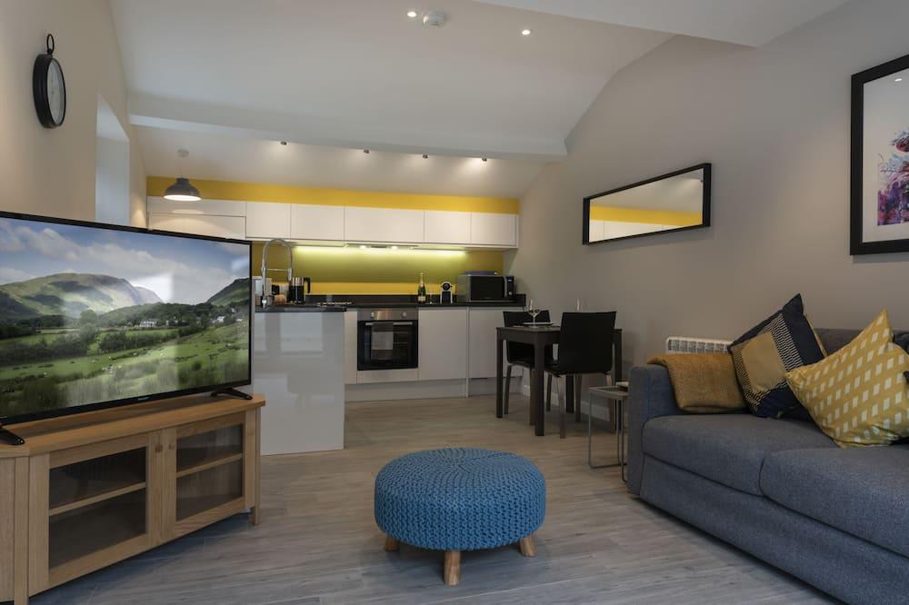 Premium huis, 1 tweepersoonsbed, niet-roken, uitzicht op bergen - Woonruimte