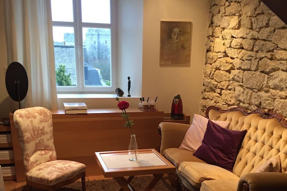 Dúplex (Chambre Castle View) - Sala de estar