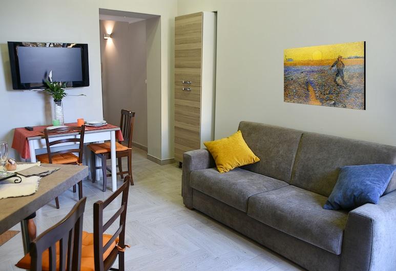 A&L Apartments, Palermo, Appartamento Deluxe, 1 letto queen con divano letto, Area soggiorno