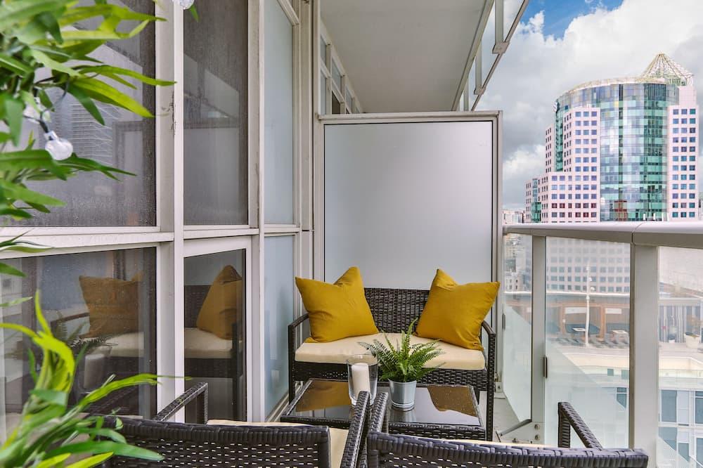 Prémium lakás, több ágy, nemdohányzó, kilátással a városra - Erkély
