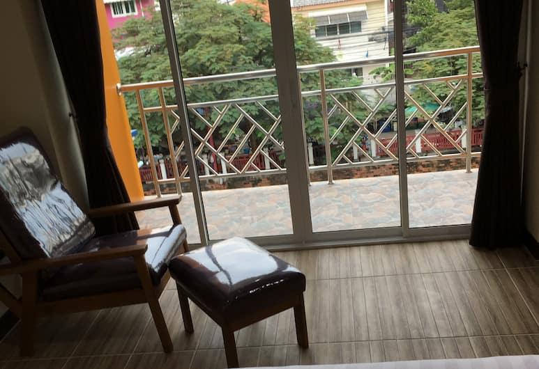 バーン ワンチャート バンコク レジデンシズ, バンコク, デラックス ダブルルーム キングベッド 1 台, 部屋からの景色