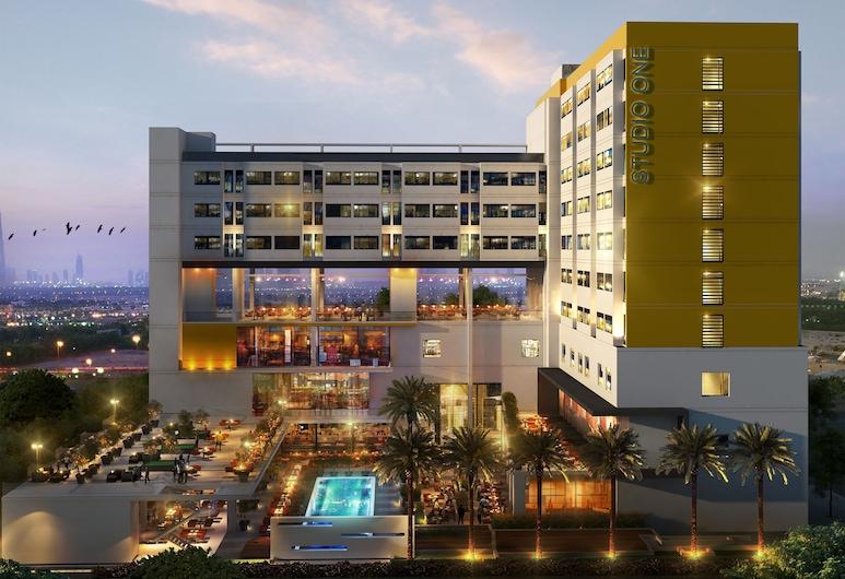 Studio One Hotel, Dubai, Hotel Front – Evening/Night