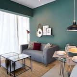 Luxusný apartmán, balkón, výhľad na mesto - Obývacie priestory