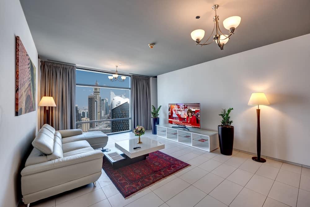 Dzīvokļnumurs, 1 divguļamā gulta, nesmēķētājiem, skats uz pilsētu - Dzīvojamā zona