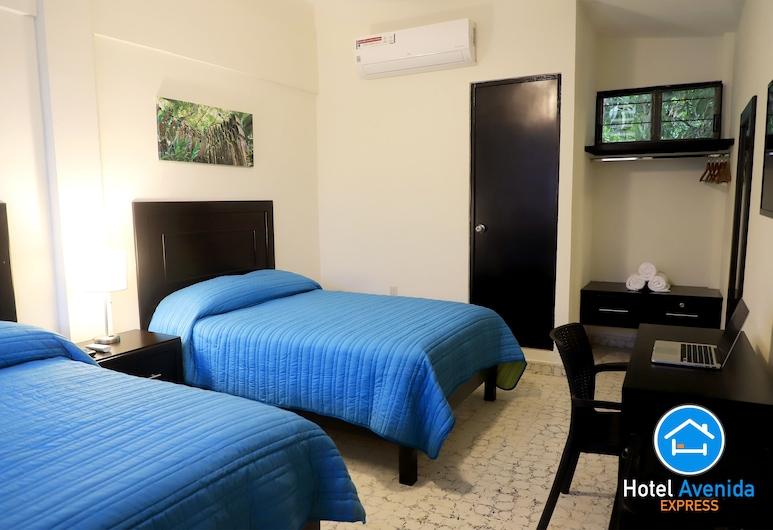 Hotel Avenida Express, Ciudad Valles, Habitación doble, 2 camas de matrimonio, no fumadores, vistas a la ciudad, Habitación