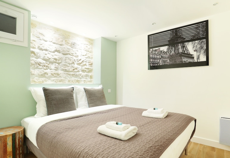 Apartement Center of Paris, Παρίσι, Διαμέρισμα, Μπάνιο στο δωμάτιο (DUPLEX ST DENIS), Δωμάτιο