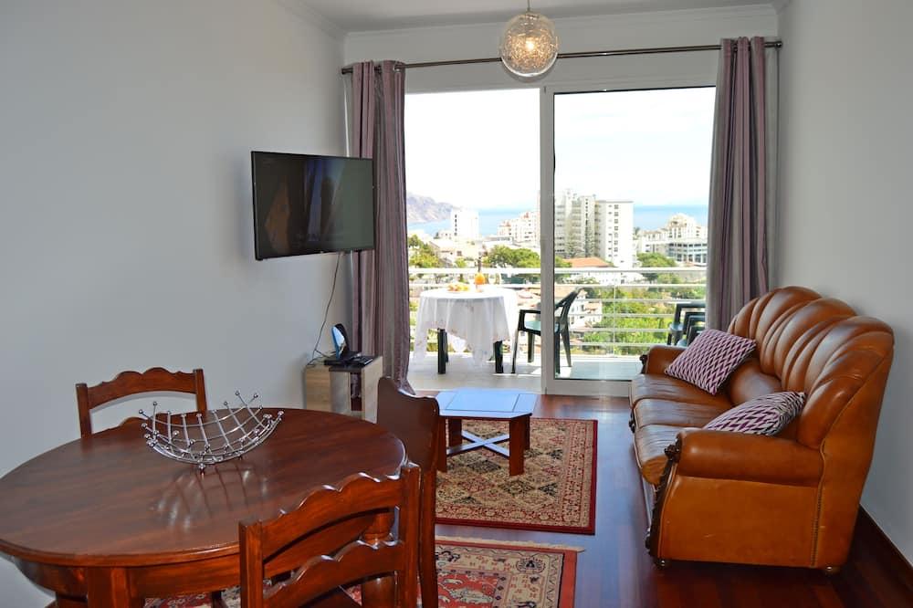 Apartamento panorámico, 1 habitación, terraza, vistas al mar - Sala de estar