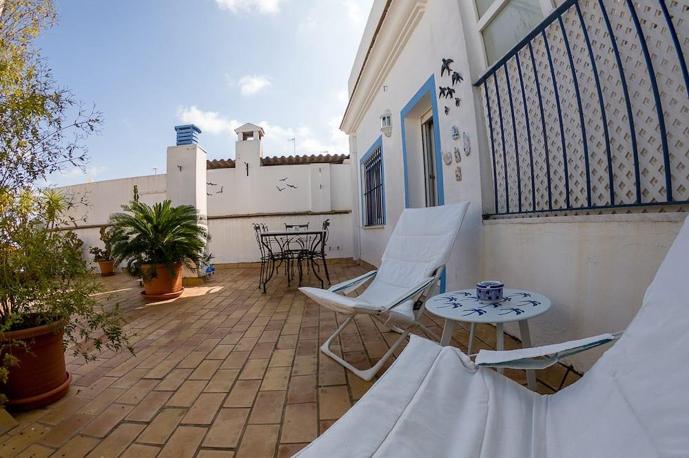 Exclusive katusekorter, 2 magamistoaga, terrass, vaade linnale - Terrass