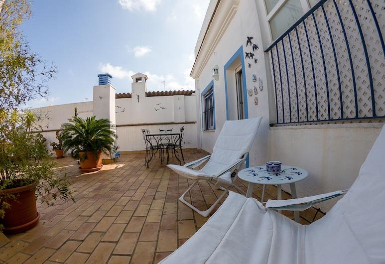 Terraza del Drago, Cadiz, Exclusive-Penthouse, 2Schlafzimmer, Terrasse, Stadtblick, Terrasse/Patio