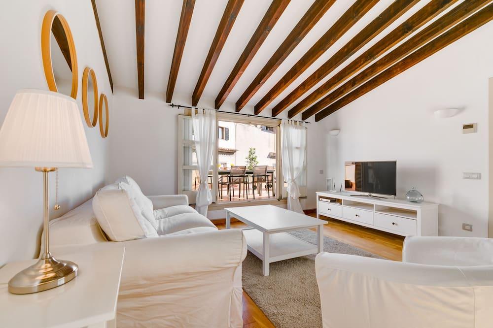 Penthouselejlighed - 1 soveværelse - terrasse (4A) - Stue