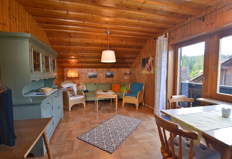 FeWo Waldheimat, Bayerisch Eisenstein, Apartamento panorámico, Varias camas, no fumadores, Sala de estar