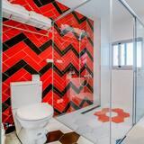 家庭套房, 露台, 海景 - 浴室