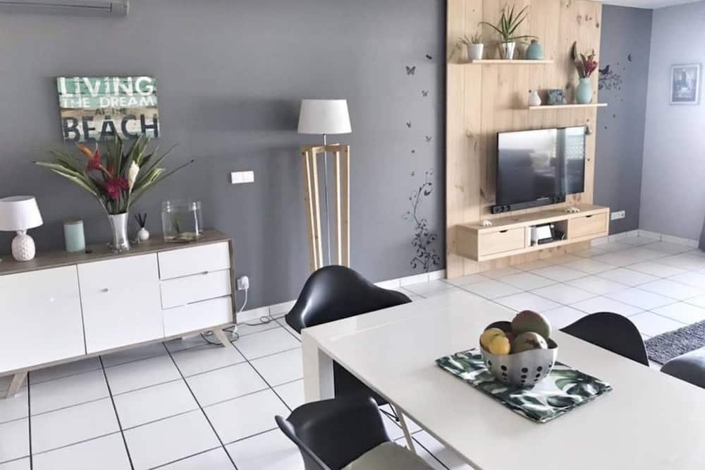 Apartment, 2Schlafzimmer, Nichtraucher, Balkon - Wohnbereich