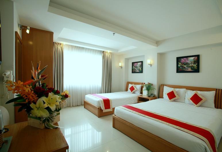 Lucky Star Hotel Nguyen Trai, Ho Chi Minh City, Lyxsvit - utsikt mot staden, Gästrum
