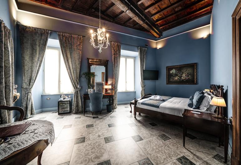 Navona Grand Suite, רומא, סוויטת דה-לוקס, מיטת קווין, ללא עישון, נוף לעיר (Suite della Torre), חדר אורחים