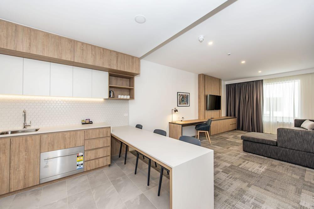 1 Bed Deluxe - غرفة معيشة