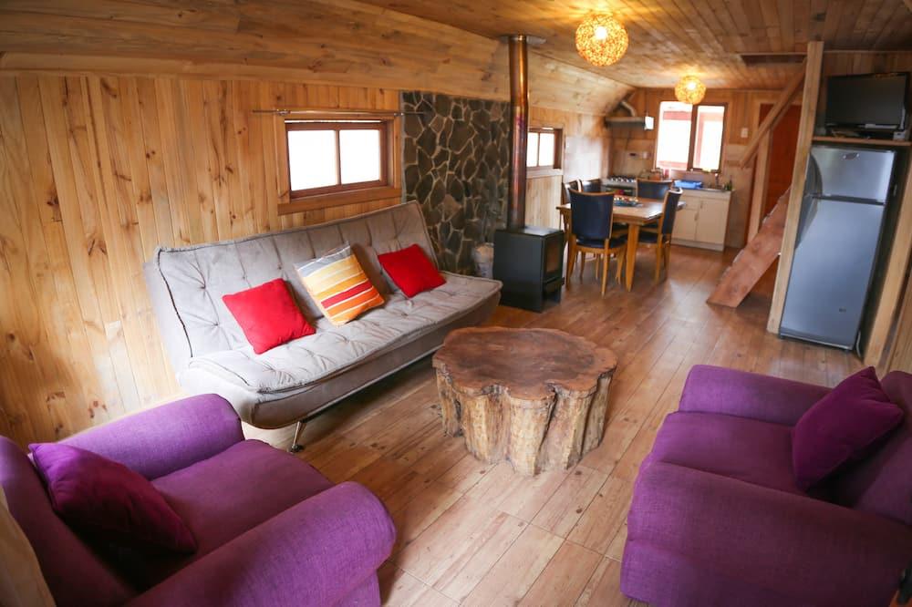 Standard-Ferienhütte, 3Schlafzimmer, Kochnische (2 Queen and 2 Single Beds) - Wohnbereich