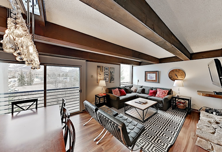 3br W/ Pool, Hot Tub & 2 Lofts Walk To Lionshead 3 Bedroom Condo, Vail, Apartment, 3Schlafzimmer, Wohnzimmer