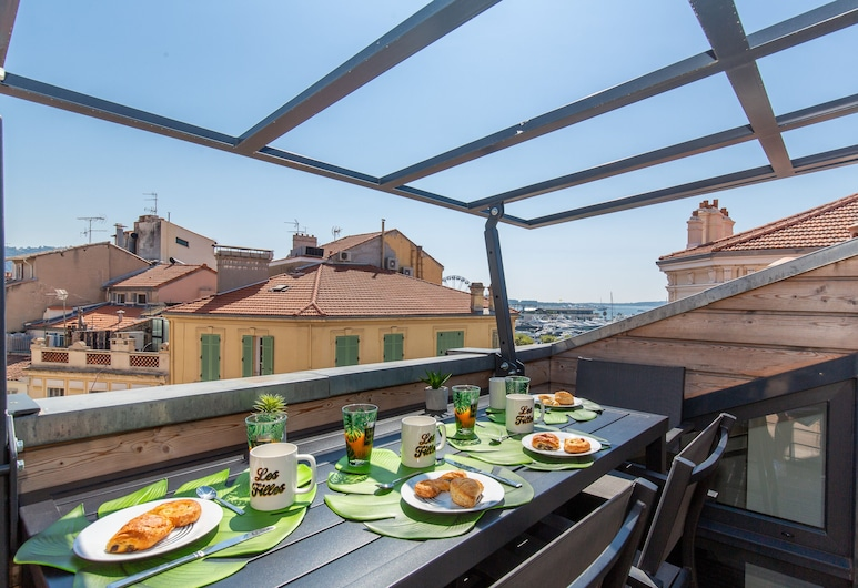 Anzur YourHostHelper, Cannes, Panorama appartement, Terras